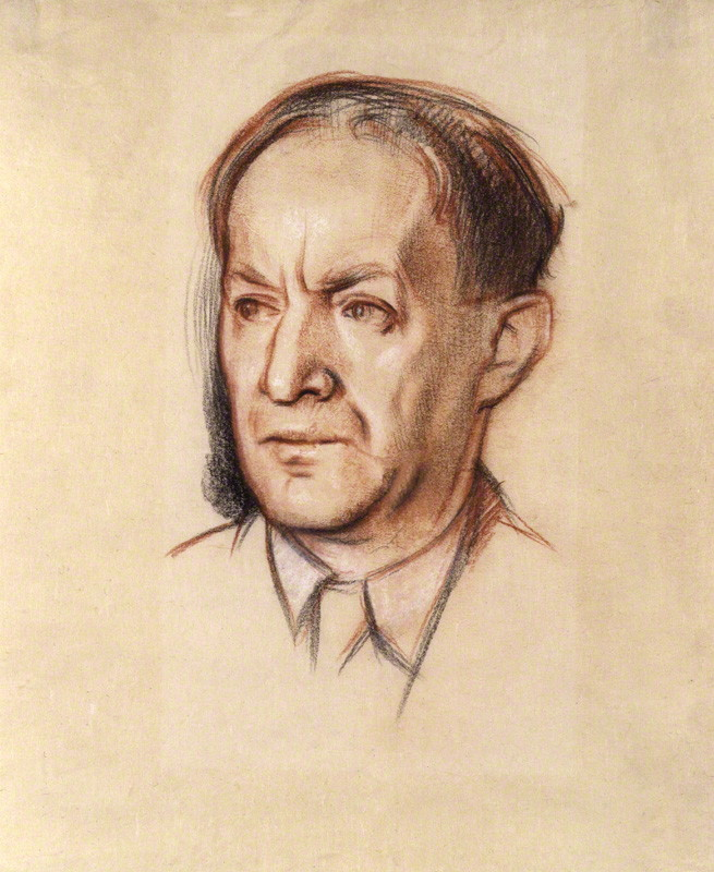 NPG 4142; Walter de la Mare by Sir William Rothenstein