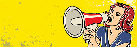 http://www.dreamstime.com/royalty-free-stock-image-megaphone-woman-image23499146