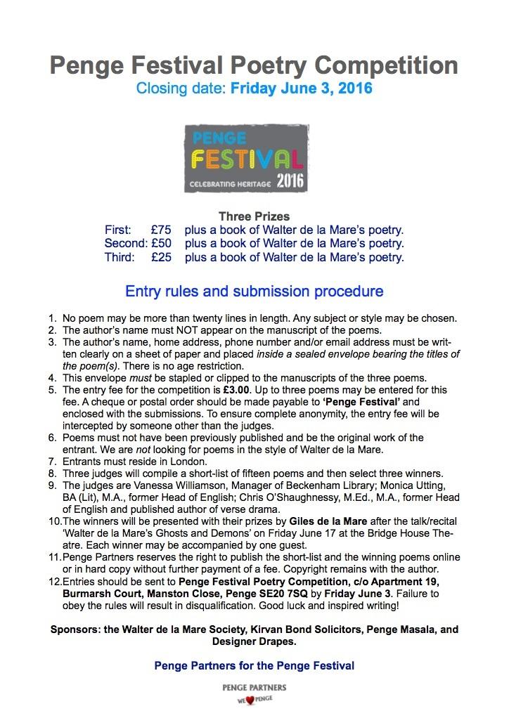 Penge Festival Poetry