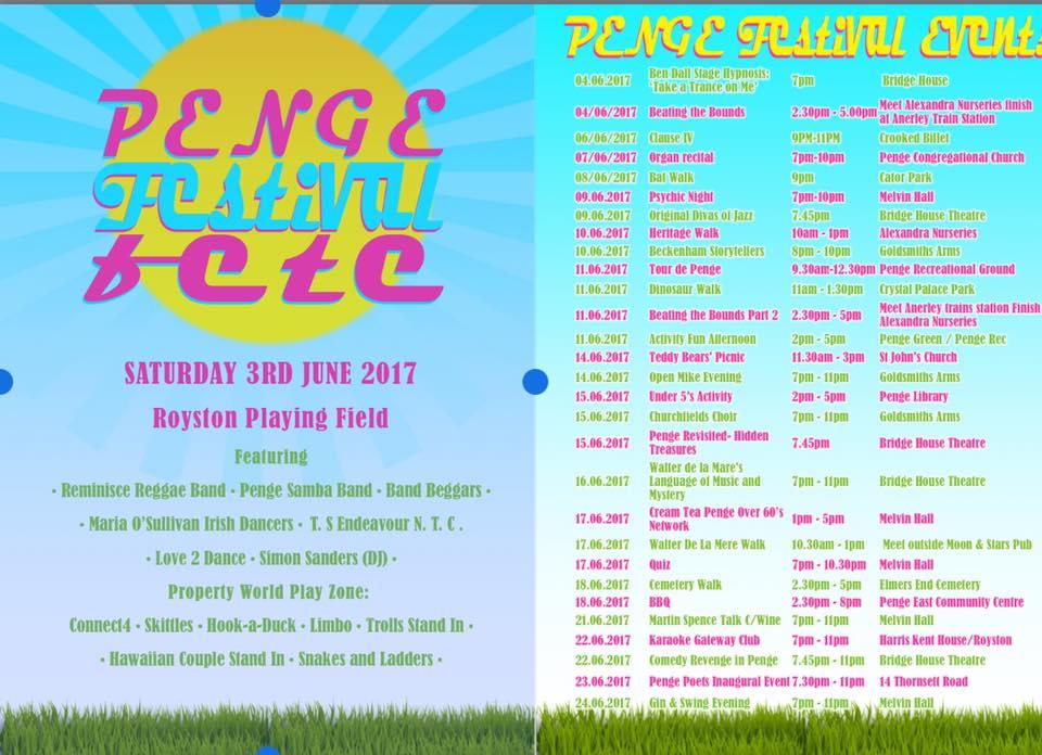 penge festival 2017 line-up