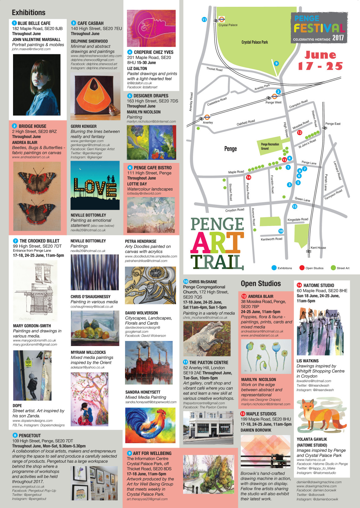 Penge Art Trail Map 2017 AW-back-FINAL