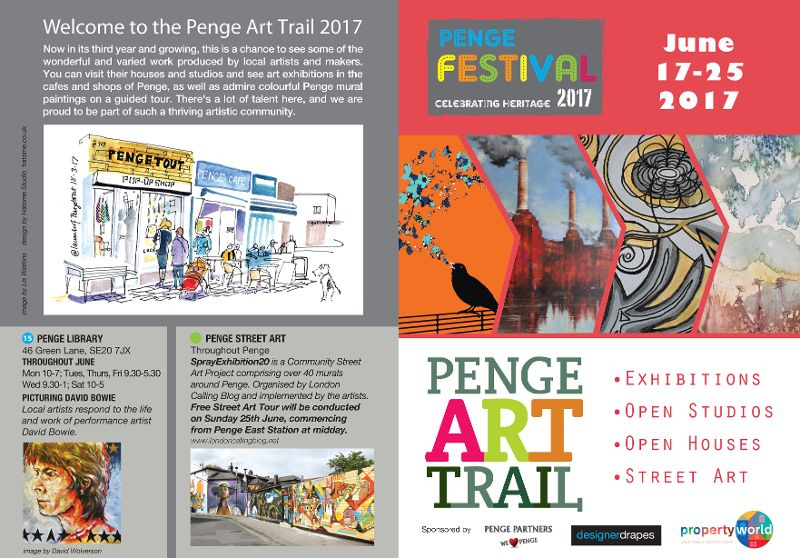 Penge Art Trail Map 2017 front-FINAL-web
