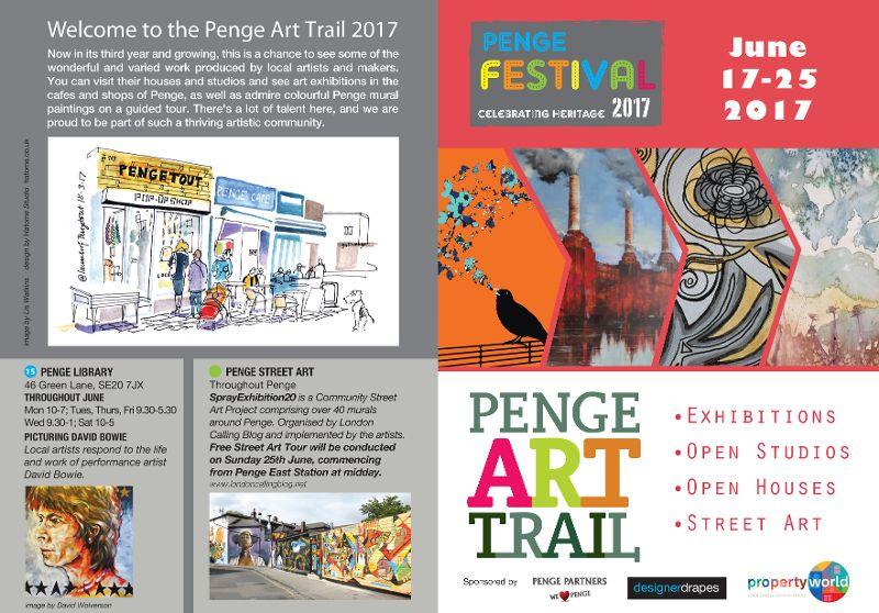 Penge Art Trail Map 2017 front-FINAL-web